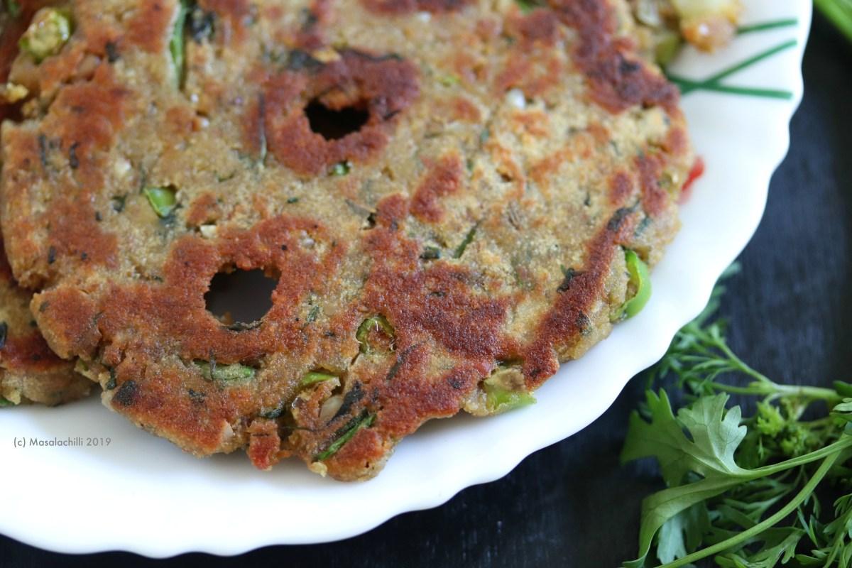 Thalipeeth is a flat bread popular in Maharashtrian Cuisine