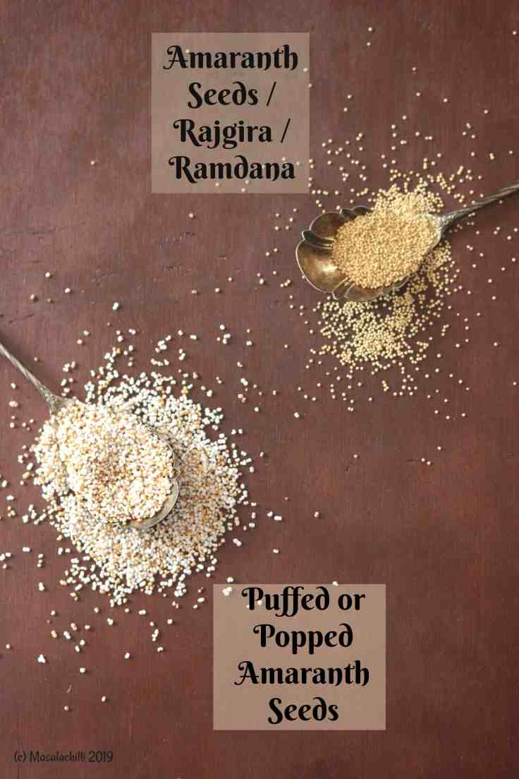 popped amaranth seeds - a healthy diabetic friendly snack option.