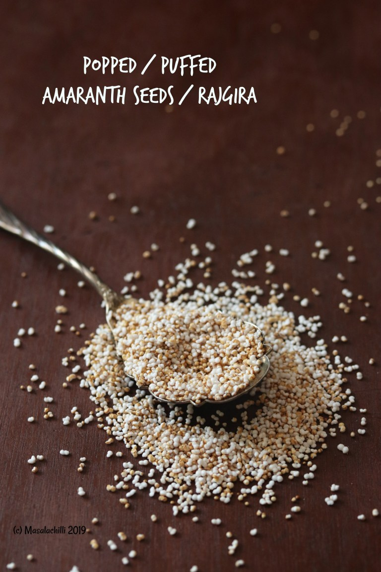 Popped or Puffed Amaranth Rajgira Seeds