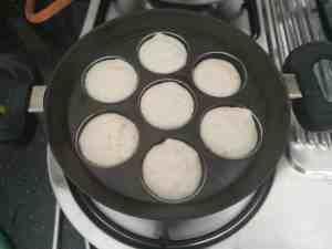 Urad dal vadai cooked in appe  pan
