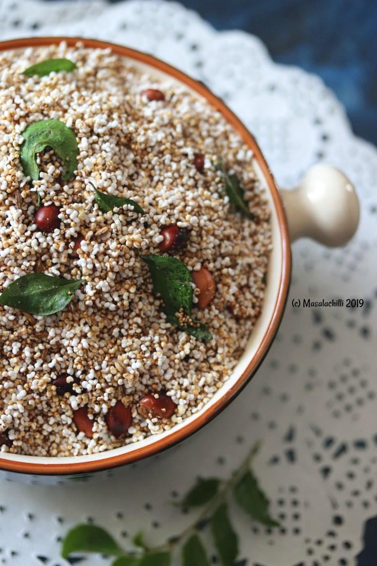 Vrat Upvas Falahar Namkeen or Chivda Recipe made with Amaranth or Rajgira