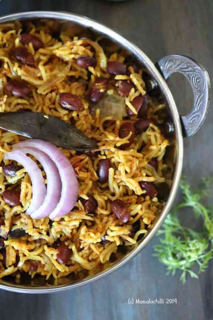 Delicious One Pot Rajma Rice Served