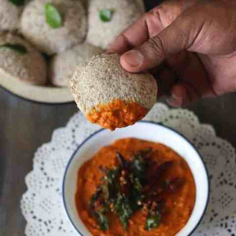 South Indian Tomato Chutney For Idli Dosa