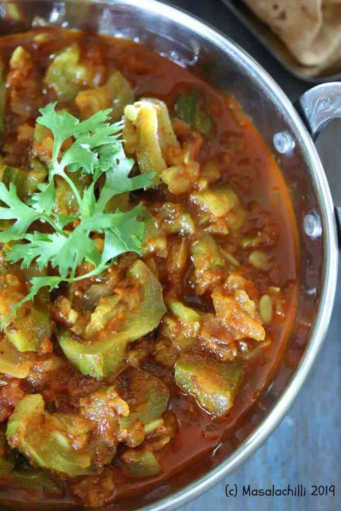 Wholesome Ridge Gourd Curry