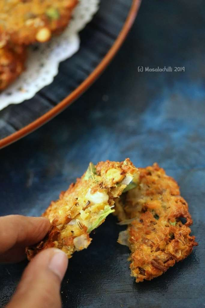 Crispy Low Oil Masala vadai