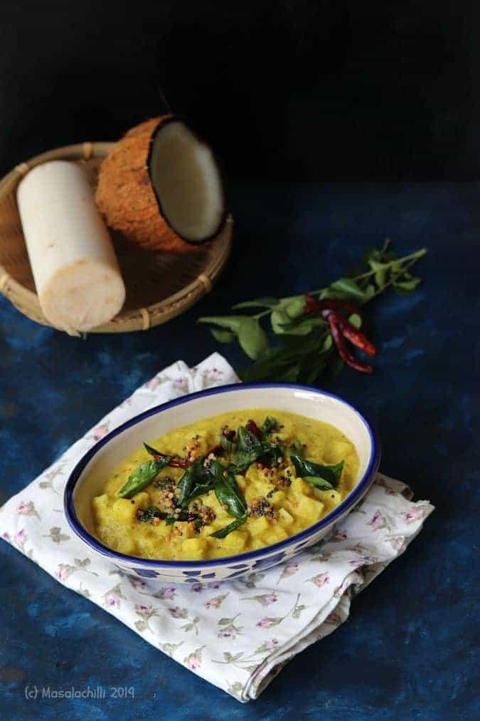 Vazhaithandu Kootu / Banana Stem Lentil Curry Recipe