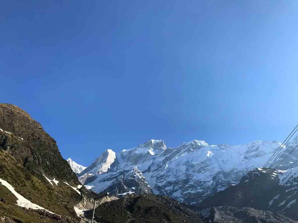 Snow capped Himalayan mountains