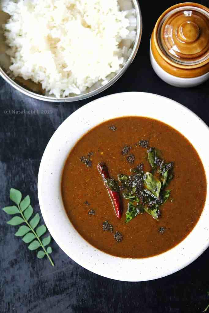 Milagu Kuzhambu tastes best with rice and ghee