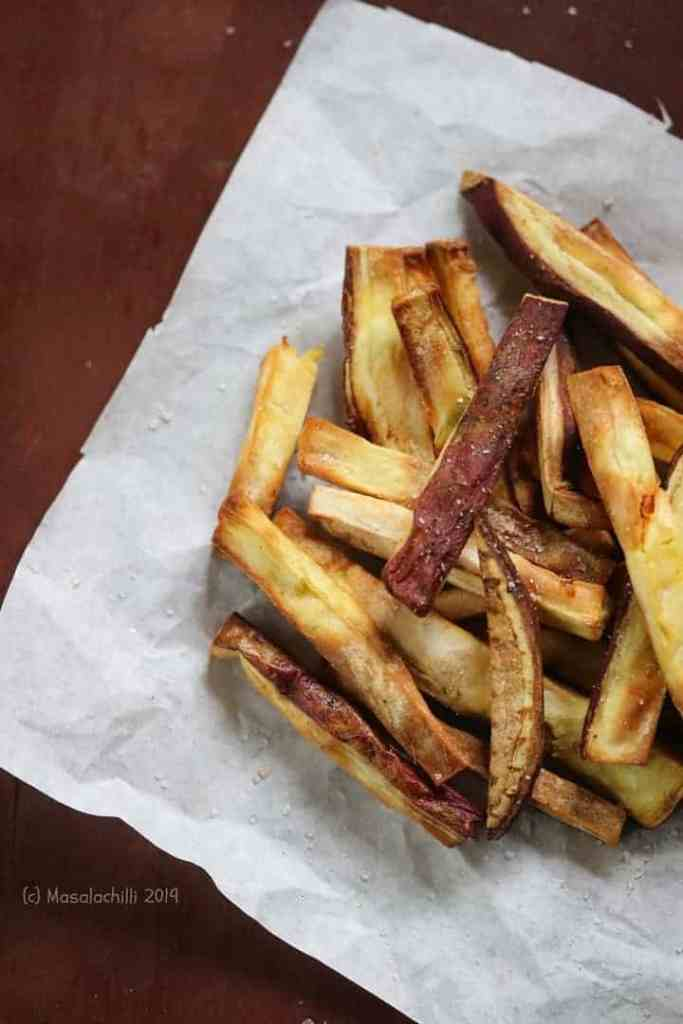 Sweet Potato Fries made in Air Fryer