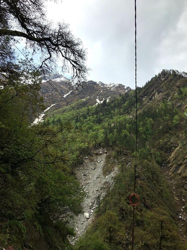 View of Himalayas during Yamunotri trek