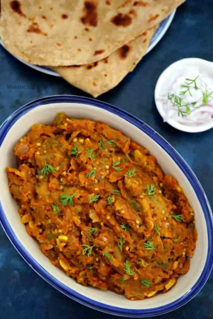 North Indian Sabzi Baingan Ka Bharta