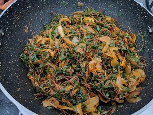 Cooked Chival Bhaji