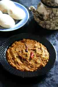 Peerkangai Thol Chutney / Ridge Gourd Skin Chutney Recipe