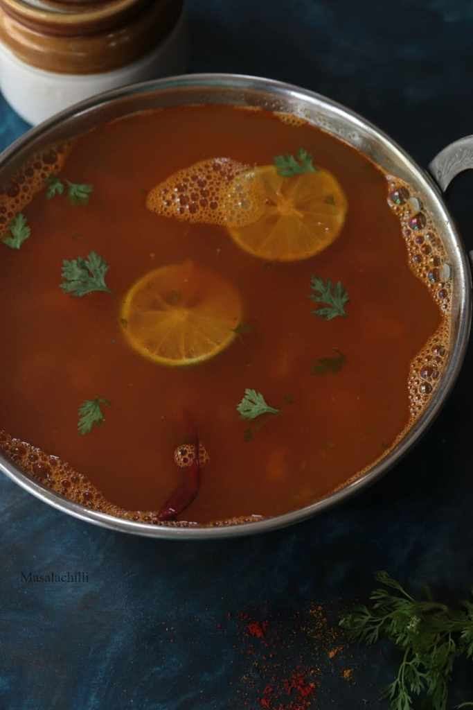 Lemon Rasam or Elumichai Rasam Recipe