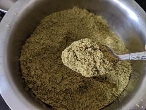 Freshly ground Murungai Keerai chutney podi