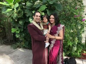 rohini's wedding family pic