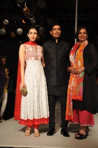 Karishma Kapoor, Manish Malhotra and Shabana Azmi