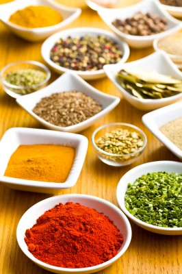 bigstock-Various-spices-and-herbs-on-wo-42744502
