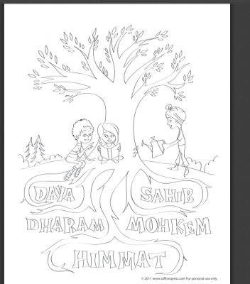 Vaisakhi Colouring PAge