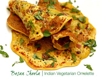 Besan Ka Cheela: An Indian Vegetarian Breakfast