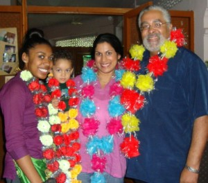Kripa and her family at the orphanage