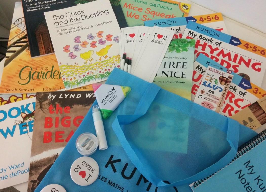 Kumon giveaway books