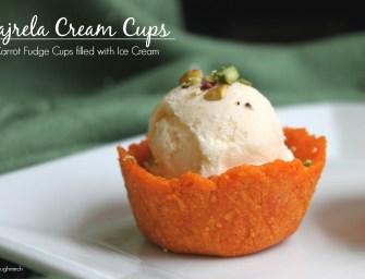 Indian Recipe: Gajrela Cream Cups