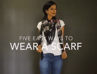 5 Easy Ways to Style A Scarf