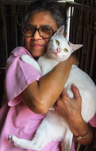 Mum and her cat