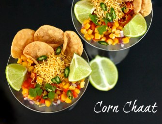 Recipe: Corn Chaat in Martini Glasses