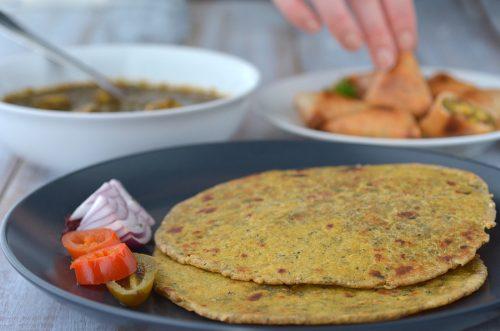 Indian Food Paratha Flatbread Indian Cuisine