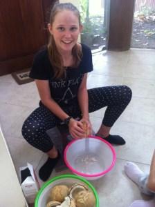 Getting Coconut Flesh