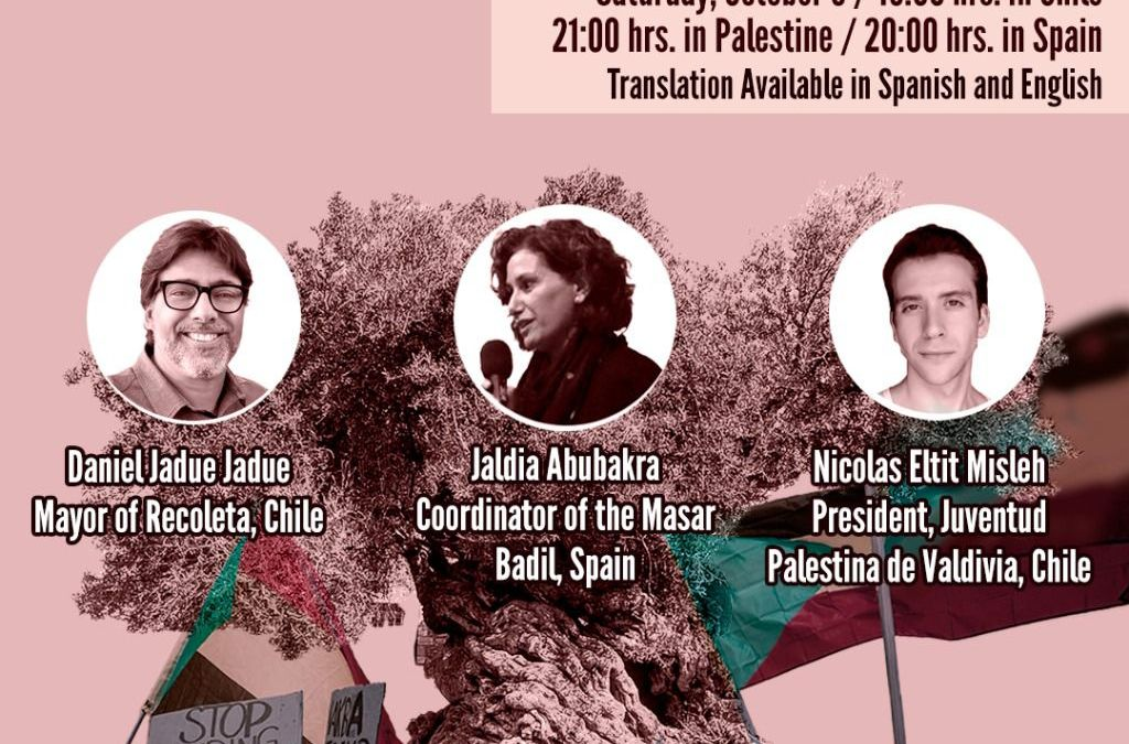9 October: Analysis and Perspectives on the Sociopolitical Reality in Chile and its Relations with the Struggle for the Liberation of Palestine