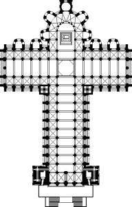 Planta de la catedral de Santiago de Compostela.