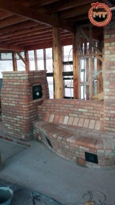 Estufa Gymse con horno blanco y recirculadores de aire caliente