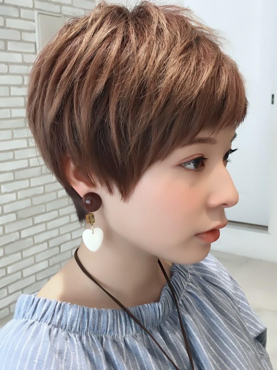 【髪型】オシャレな前髪、ショートカット