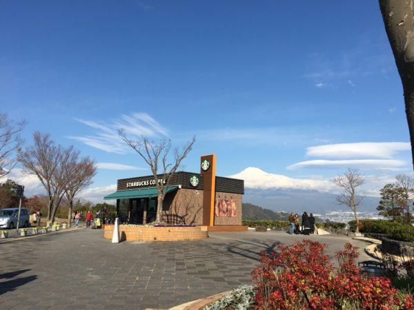 富士川SAスタバから見える富士山
