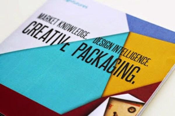 Contoh desain brosur desain kreatif - Design Futures Exhibition Materials 1