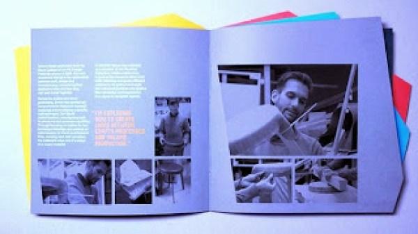 Contoh desain brosur desain kreatif - Designers in Residence 3