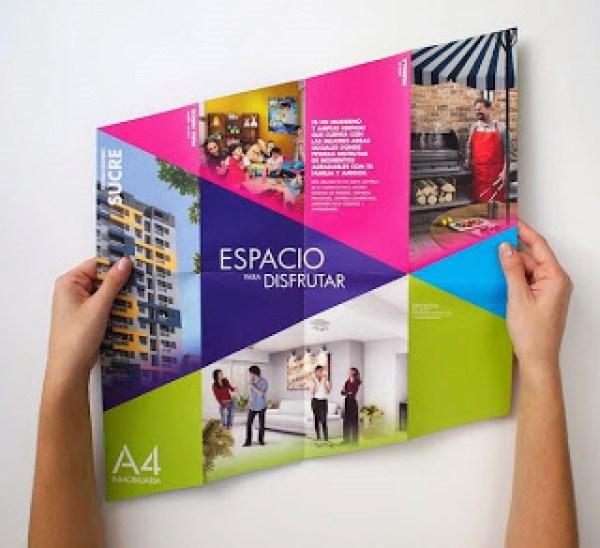 Contoh desain brosur desain kreatif - Real Estate Company 4