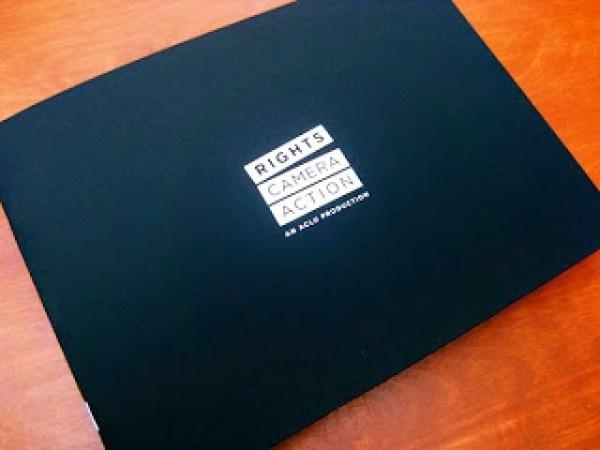 Contoh desain brosur desain kreatif - Rights Camera Action 1