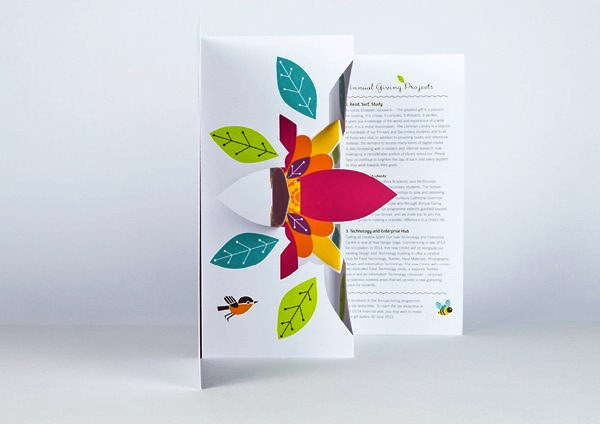 Contoh Desain Brosur Pop Up 3D Kreatif Atraktif - Desain Brosur Pop Up - Annual Giving 2013 2