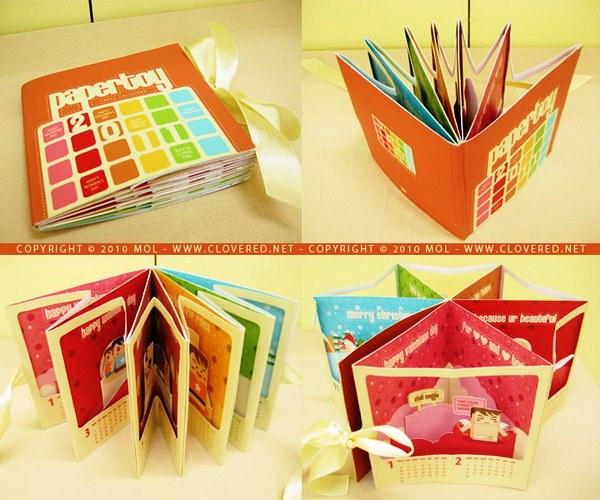 Contoh Desain Brosur Pop Up 3D Kreatif Atraktif - Desain Brosur Pop Up - Pop-up Calendar Brochure