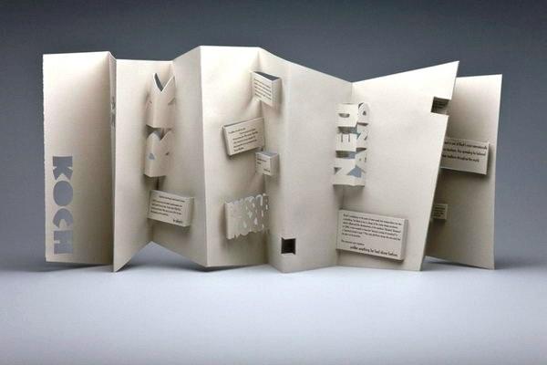 Contoh Desain Brosur Pop Up 3D Kreatif Atraktif - Desain Brosur Pop Up - Rudolf Koch Pop-Up Brochure