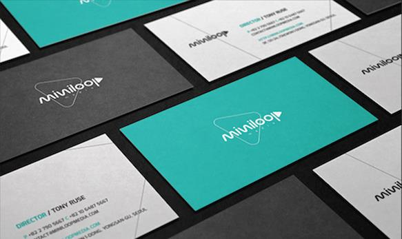 Gambar Desain Kartu Nama Terbaru - Gambar Contoh Desain Kartu Nama - Miniloop Media by Micky Jongwook Kim