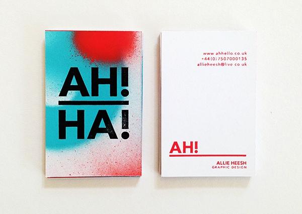 Gambar Desain Kartu Nama Terbaru - Gambar Contoh Desain Kartu Nama - Self Branding by Allie Heesh