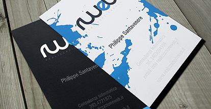19 Desain Kartu Nama Ini Akan Menginspirasi Anda - Contoh-Gambar-Kartu-Nama-Inspiratif-Consultenza-Informatica