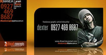 19 Desain Kartu Nama Ini Akan Menginspirasi Anda - Contoh-Gambar-Kartu-Nama-Inspiratif-Dexter