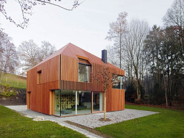 Tips Merenovasi Rumah Menjadi Type Minimalis - Ssculptural-home-in-munich-built-using-prefabricated-materials