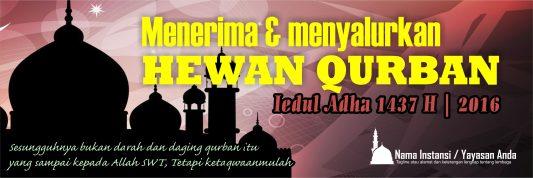 Banner Qurban Spanduk Iedul Adha 1437 2016 Free Download